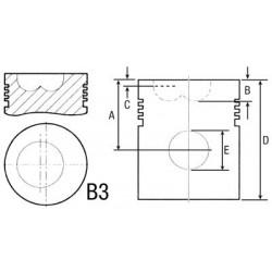 PISTON POUR CASE D179 - D239 - D358