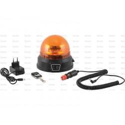 GYROPHARE A LED RECHARGEABLE, MAGNETIQUE, 12 / 24 V - AUTONOMIE 12H