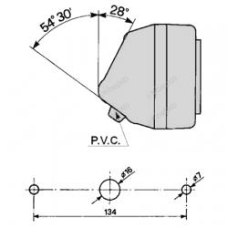 FEU ARRIERE GAUCHE ( 184 X 75 MM )