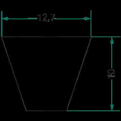 COURROIE TRAPÉZOÏDALE  SPA 750 LG 750 MM