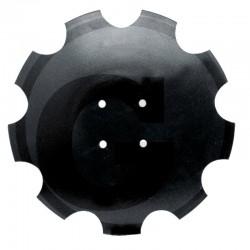 DISQUE BOMBE CRENELE 460 X 4 MM 4 TROUS
