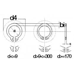 LOT DE 20 CIRCLIPS EXTERIEURS 10 MM DIN471