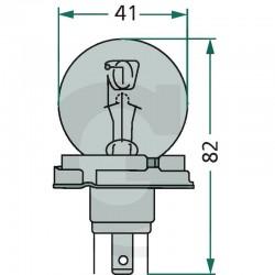AMPOULE  ASYMETRIQUE 12V 45/45W P45T 41