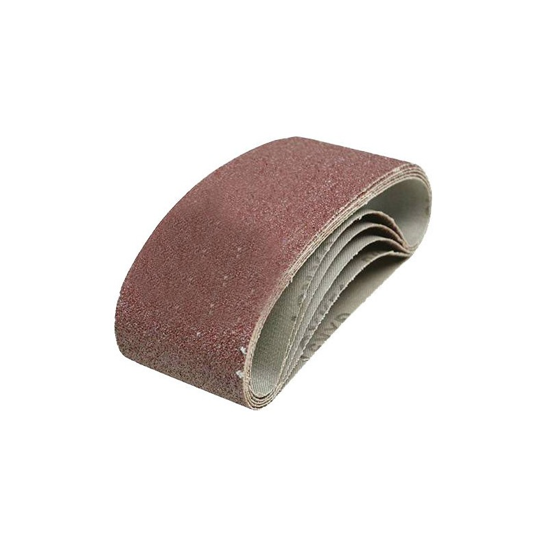 5 BANDES ABRASIVES 75X457MM