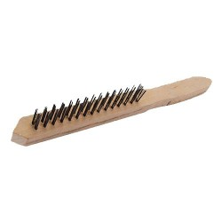 HIGH PERFORMANCE METAL BRUSH WITH WOODEN HANDLE