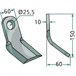 FLEAU Y 60 X 150 X 10 MM