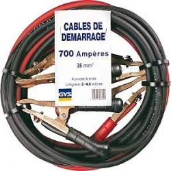 "CABLE DE DEMARRAGE ""GYS"" 35 MM² , 700 A , 4.5 METRES"