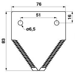 SECTION SUR-FAUCILLEE POUR CLAAS - 6112081