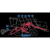 Courroie batteur, tire paille, séparateur rotatif, broyeur  moissonneuses batteuses New Holland  CL560