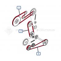 ✅ Moissonneuse Batteuse TX66 New Holland, Courroies de coupe, Rabatteur, variateur...