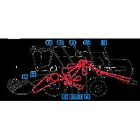 Courroie batteur, variateur, ventilateur, pompe hydrostatique, hydrauliquemoissonneuses batteuses New Holland  CS660