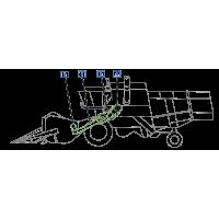 Courroie entrainnement barre de coupe, variateur batteur, rabatteur, embrayage convoyeur moissnneuse Calss Consul