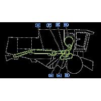 Courroie pour moissonneuse batteuse vue droite  moissonneuse claas mega 360