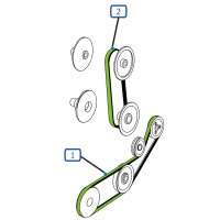 Courroie pour moissonneuse batteuse claas barre de coupe c450-c540 repliable lexion