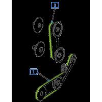 Courroie pour moissonneuse batteuse claas barre de coupe c450  repliable mega - dominator - medion