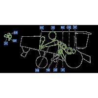 Courroie pour moissonneuse vue droite moissonneuse claas lexion 440