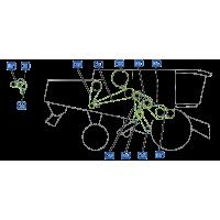 Courroie pour moissonneuse vue droite moissonneuse claas lexion 460