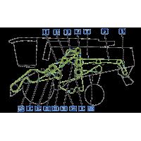 Courroie pour moissonneuse vue gauche  moissonneuse claas lexion 415