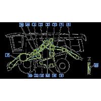 Courroie pour moissonneuse vue gauche  moissonneuse claas lexion 470 montana
