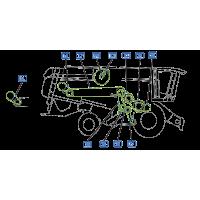✅ courroie vue droite moissonneuse claas lexion 570 montana
