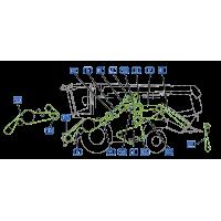 ✅ courroie vue gauche moissonneuse claas lexion 550