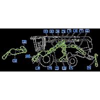 ✅ courroie vue gauche moissonneuse claas lexion 570