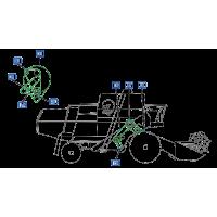 Courroies côté droite moissonneuse batteuse john deere 985/985hy/4 courroies