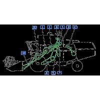 Courroies côté gauche moissonneuse batteuse john deere 975 - 975hy/4 courroies
