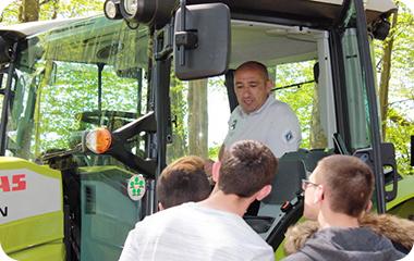 """Opération """"10 de conduite rurale"""" à la MFR de Bernay en Champagne"""
